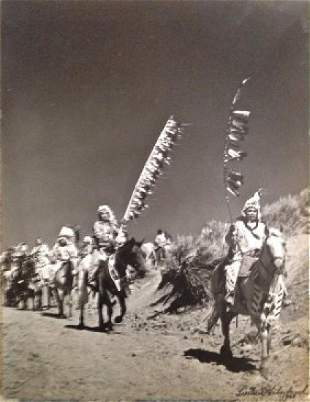 """American Indian Photograph """"Trail To Pow-Wow"""" Haberman"""