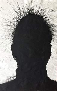 "Richard Hambleton ""Shadow Man"" Painting"