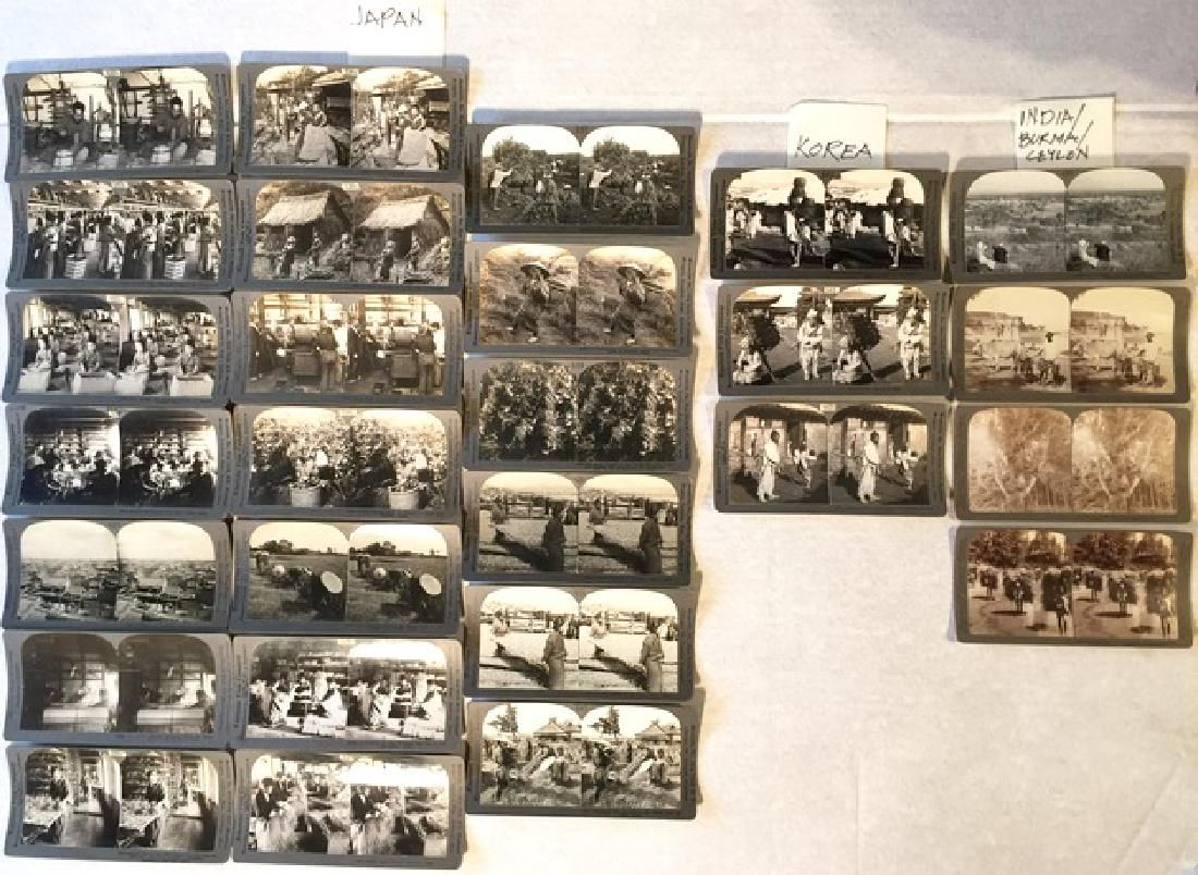 Stereoview Cards: Japan, Korea, India, Burma, Ceylon