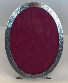 Sterling Silver Oval Picture Frame, C.1910