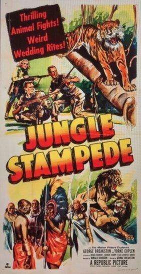 Jungle Stampede (Republic 1950)Three Sheet Movie Poster