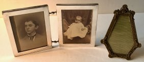 Sterling Silver & French Bronze Picture Frames