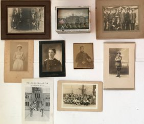 Albumen Photographs, Military, Firemen,Soldiers,Diorama