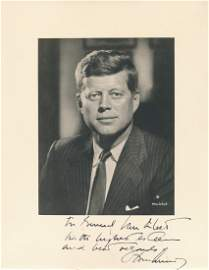 John F. Kennedy- Rare Signed Vintage Photograph