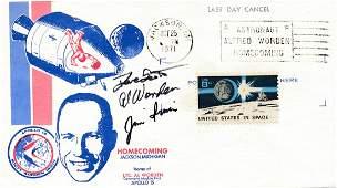 Apollo 15- FDC Signed by Scott, Worden & Irwin