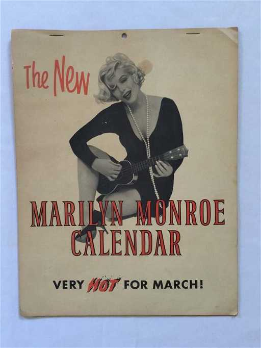 1959 7 Page Marilyn Monroe The New Calendar March