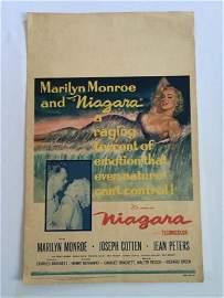1952 Marilyn Monroe Theatrical Window Card NIAGARA