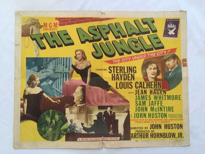 Original 1950 MM THE ASPHALT JUNGLE Half Sheet Poster