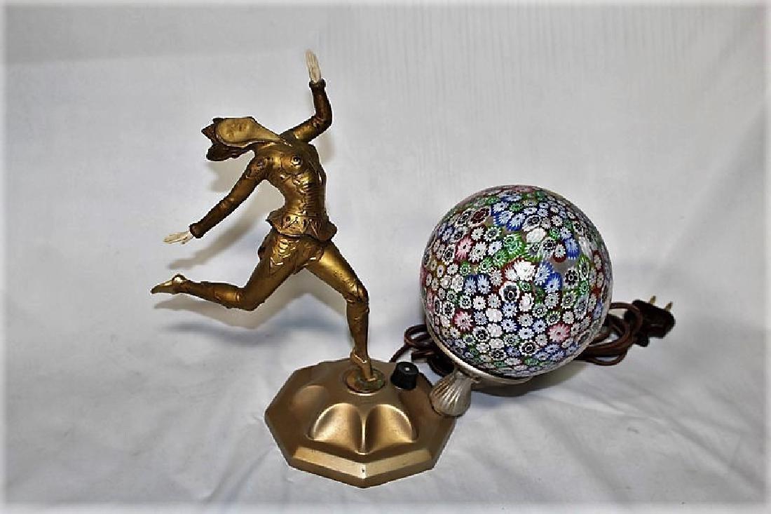 Original Art Deco Girl Lamp
