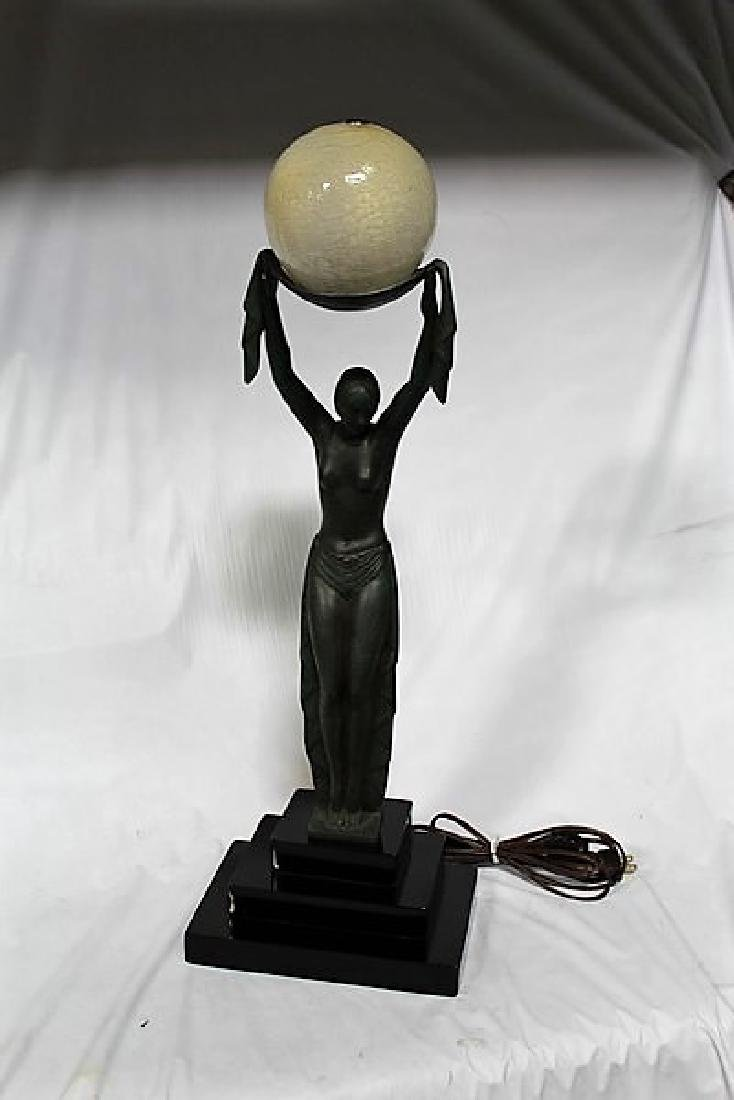 Art Deco Lady Figurine Lamp