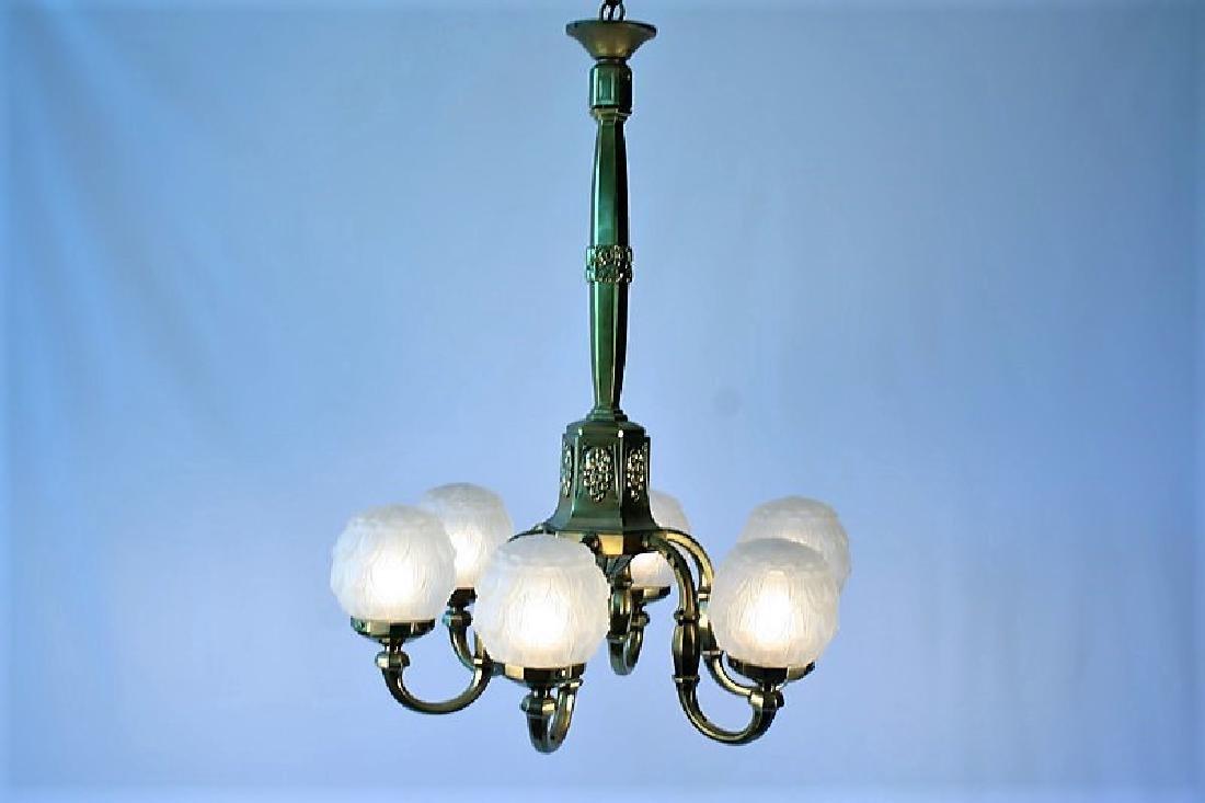 Original Art Deco Chandelier
