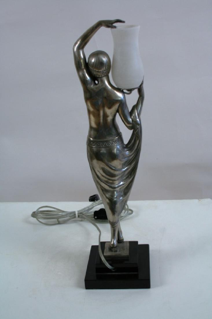 Bronze Art Deco Style Lady Lamp - 5
