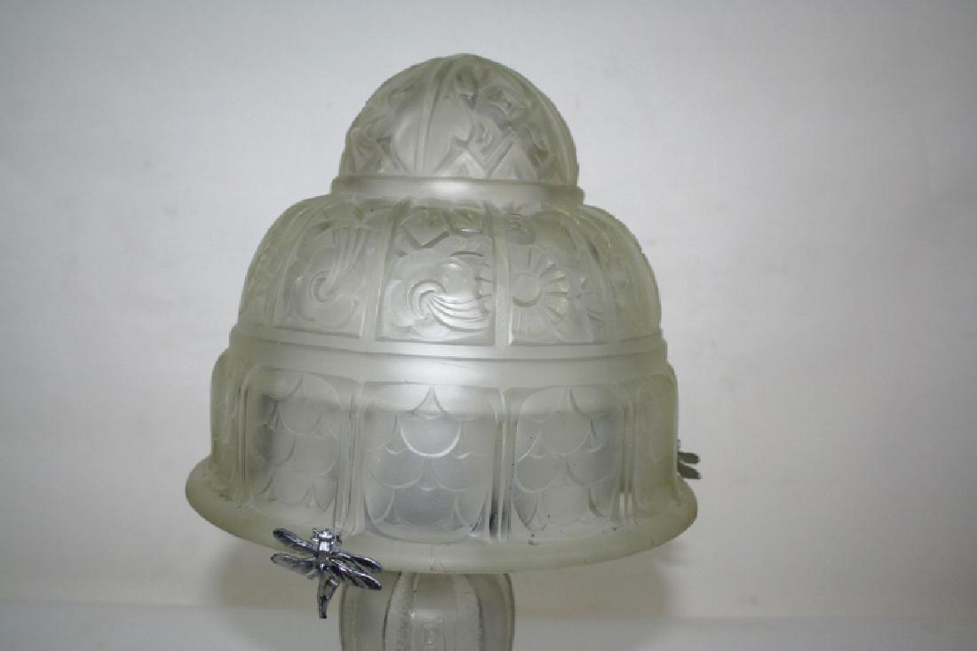 Art Deco Acid Cut Table Lamp - 2
