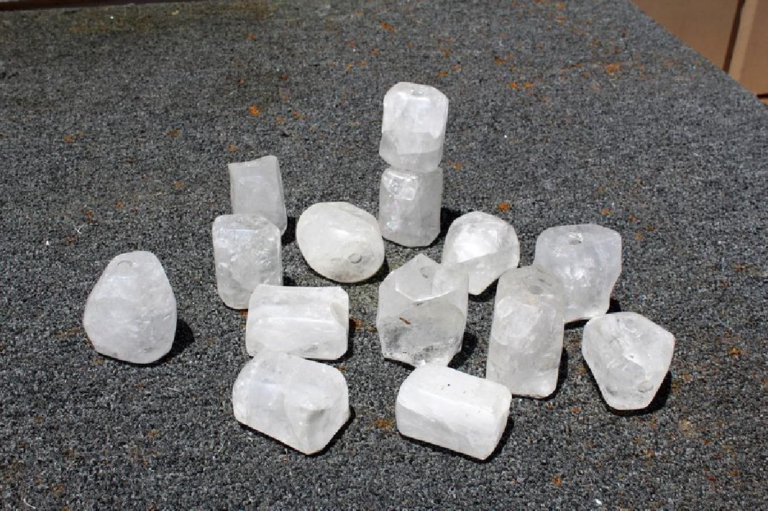 Rock Crystal Spacers (15)