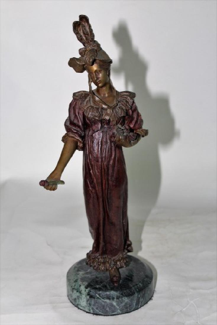 Art nouveau Lady Bronze