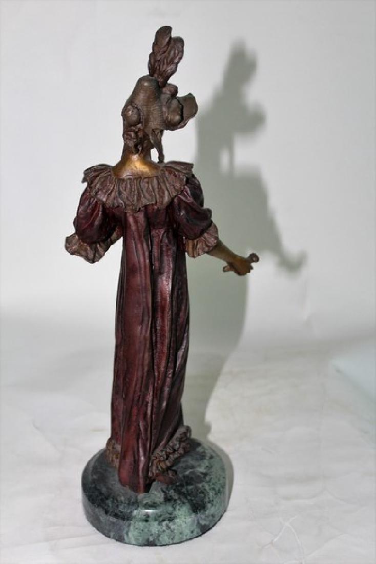 Art nouveau Lady Bronze - 2