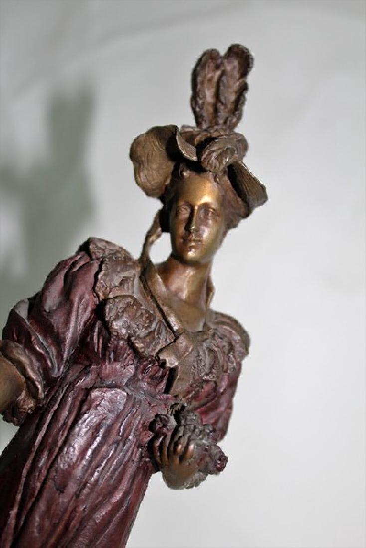 Art nouveau Lady Bronze - 3
