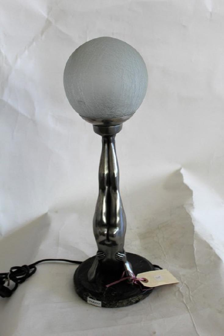 Art Deco Style Girl Lamp titled Beach Ball Girl - 3