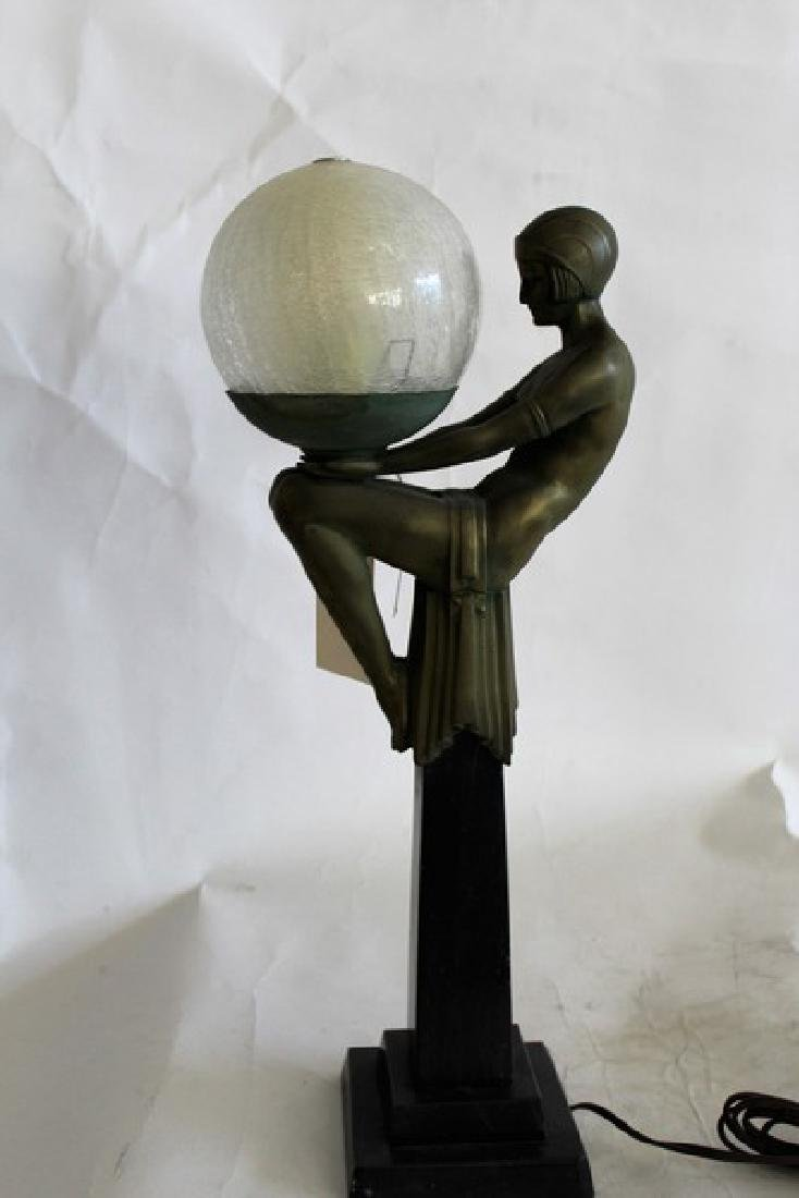 Art Deco Style Lady Lamp titled Enigme