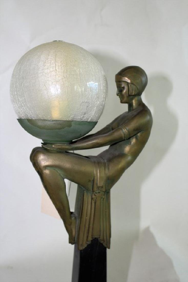 Art Deco Style Lady Lamp titled Enigme - 2