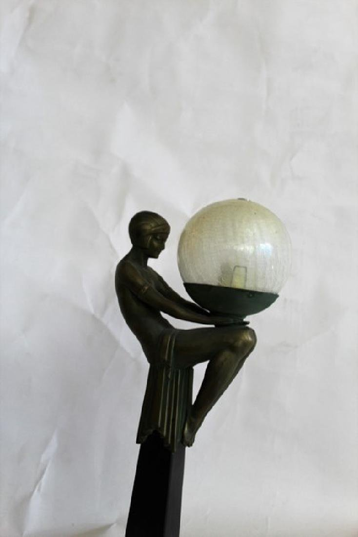 Art Deco Style Lady Lamp titled Enigme - 3