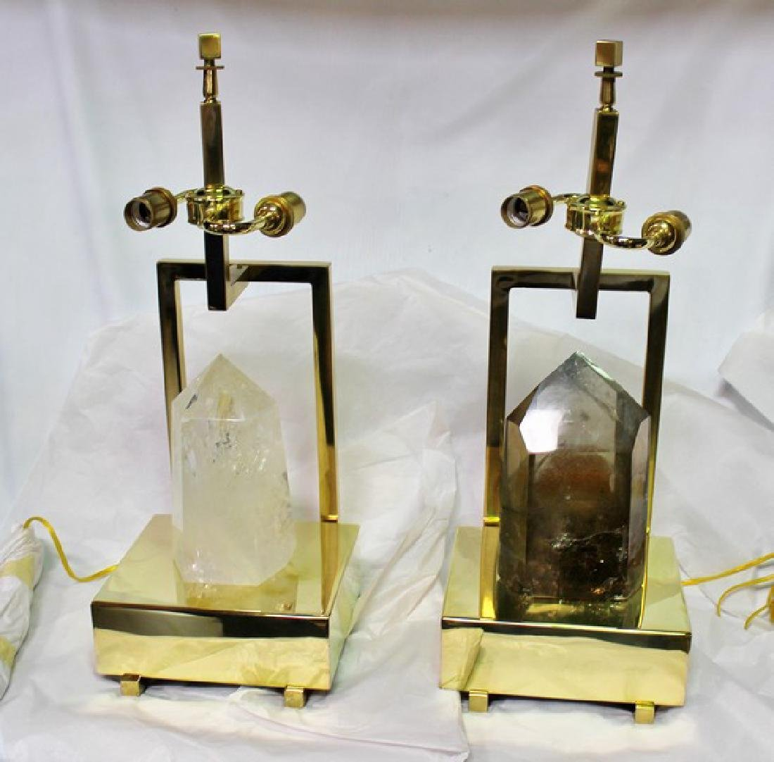 Rock Crystal Table Lamps (Pair)