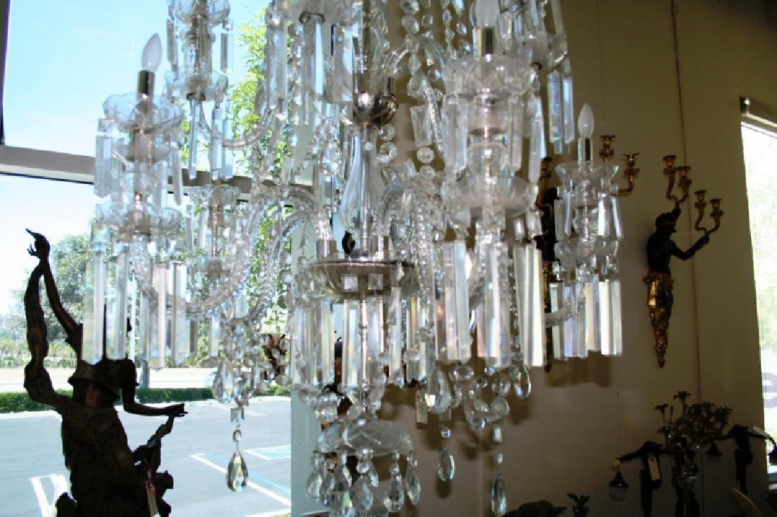 Antique Lead Crystal Chandelier - 2