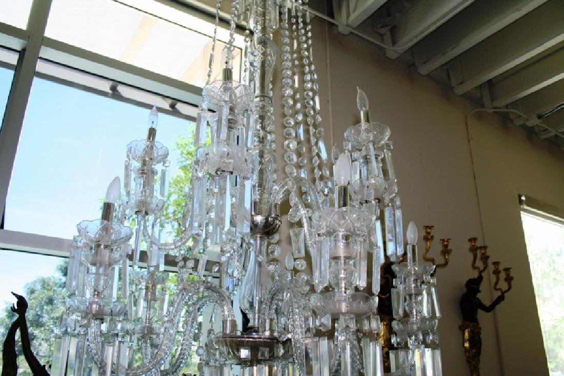 Antique Lead Crystal Chandelier - 3