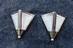 Art Deco Triangular Wall Sconces (Pair)