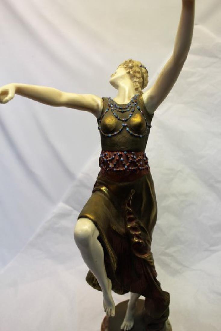 Art Deco Figurine Titled Mask Dancer - 3