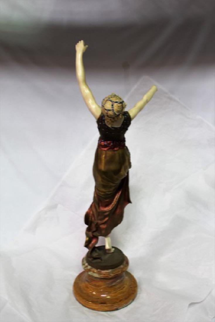 Art Deco Figurine Titled Mask Dancer - 6