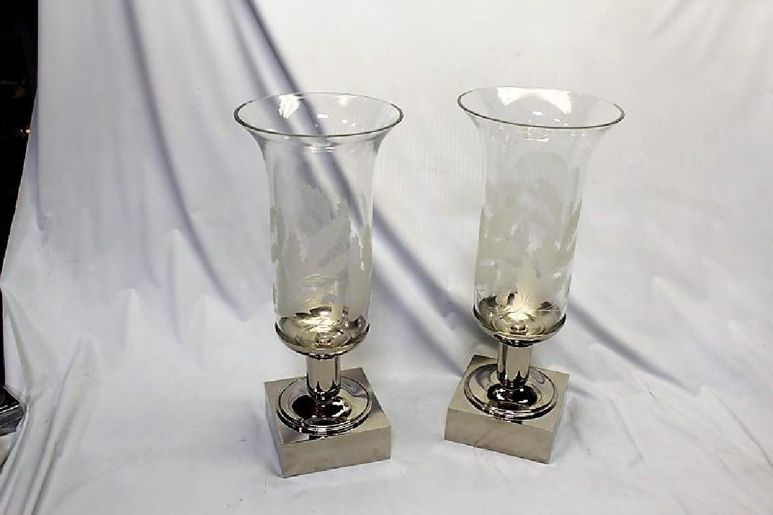 New Design Hurricane Candelabras (Pair)