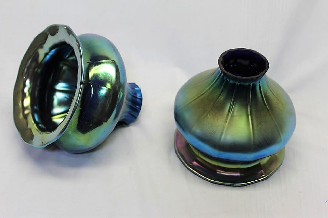 Tiffany Style Art Glass Shades (Pair)