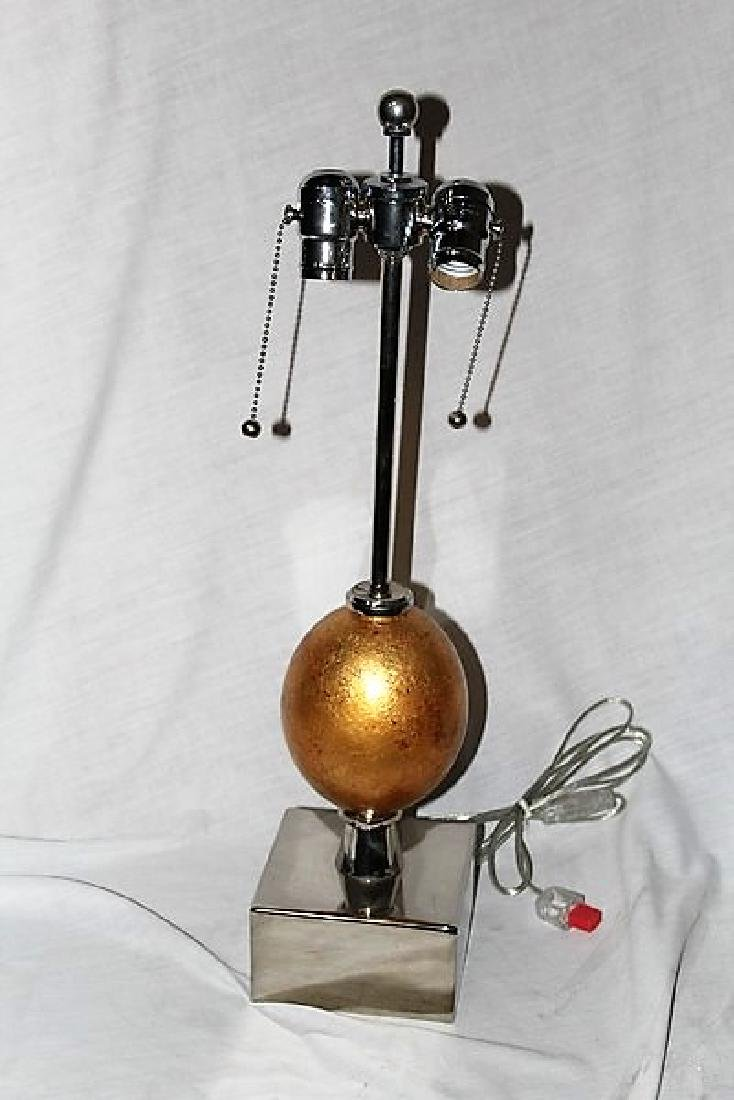 Gold Leaf Ostrich Egg Lamp