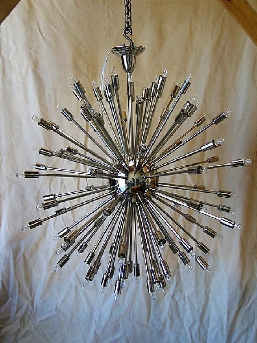 Large Metal Sputnik Chandelier