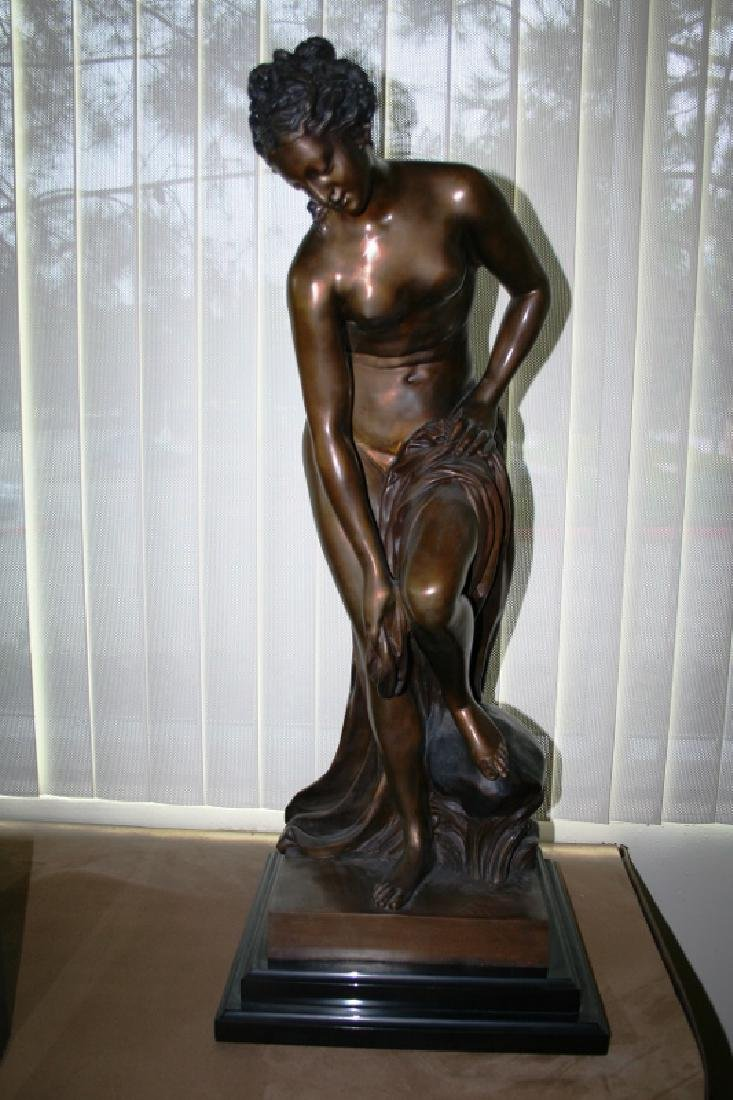 """Nude Bronze Titled """"The Bather"""""""