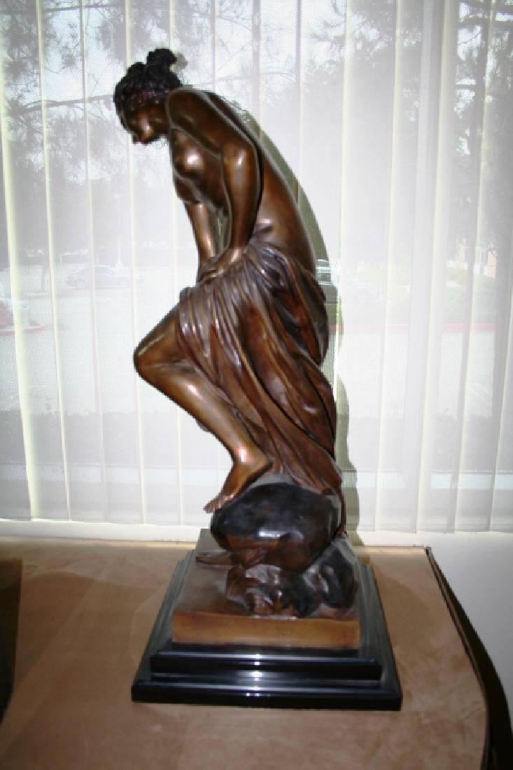 """Nude Bronze Titled """"The Bather"""" - 2"""