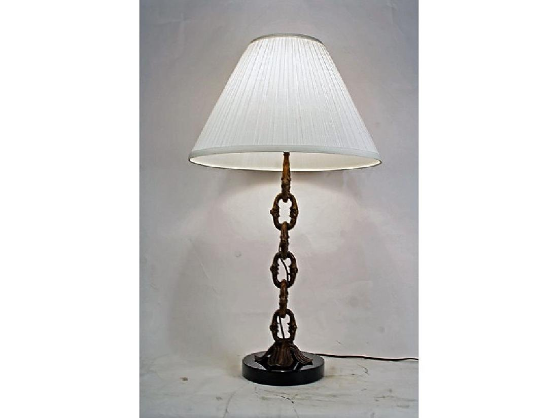 Bronze Chain Table Lamp