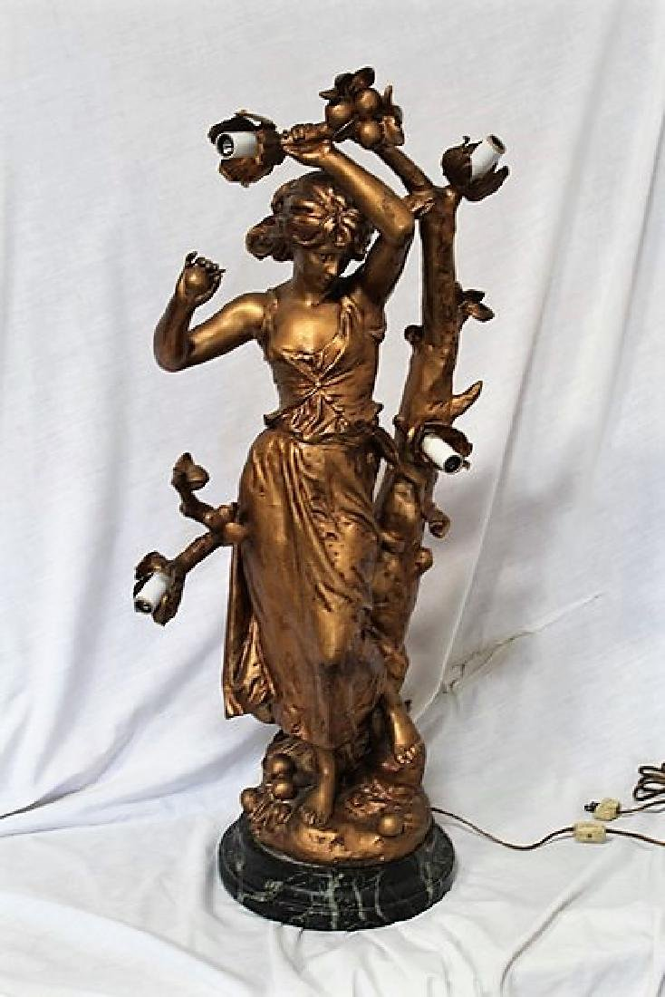 Antique Lady Figural Lamp