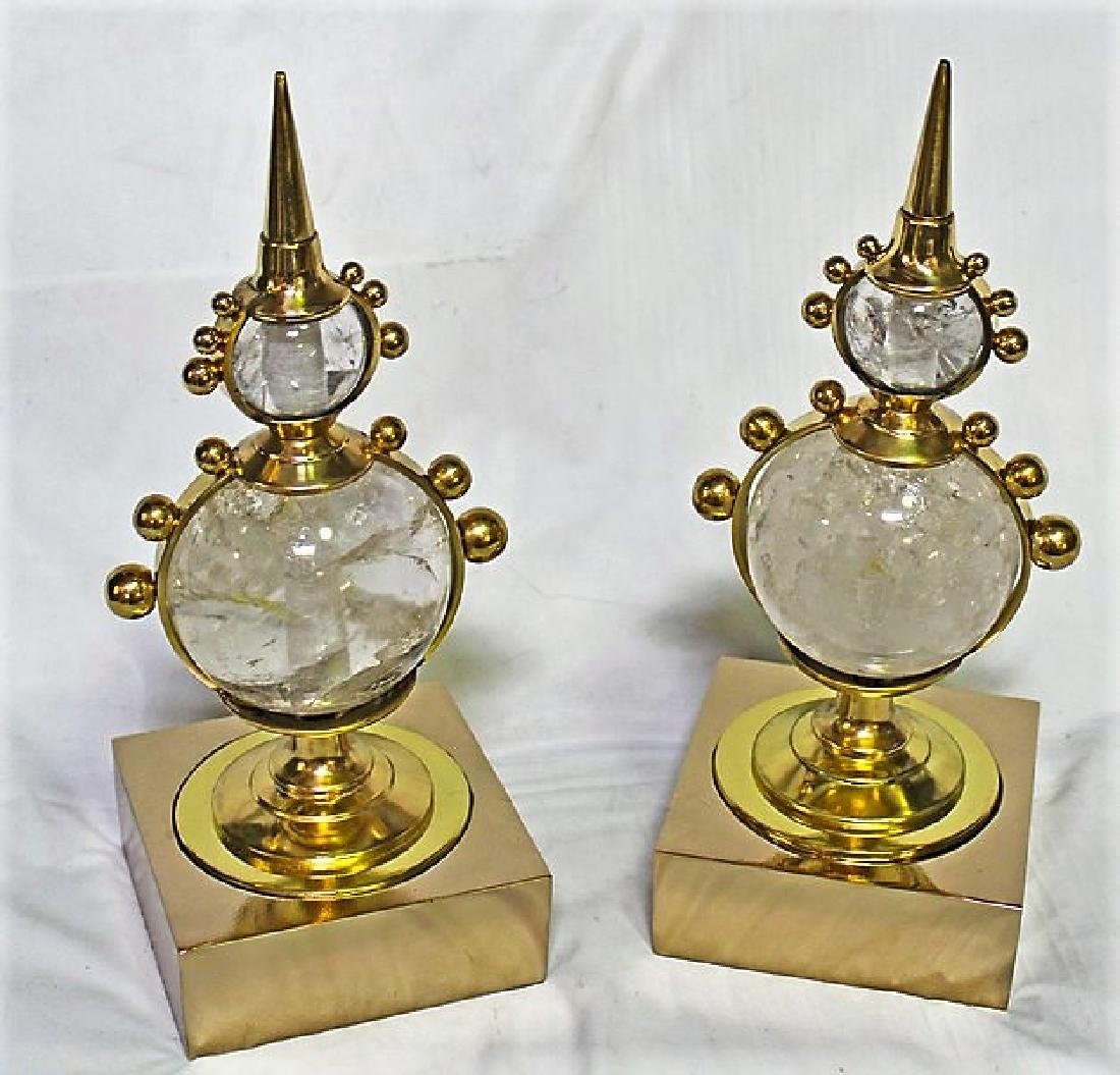 Rock Crystal Table Top Decorations (Pair)