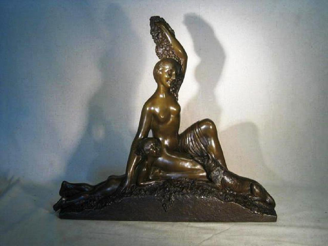 Original Bronze Art Deco Figurine