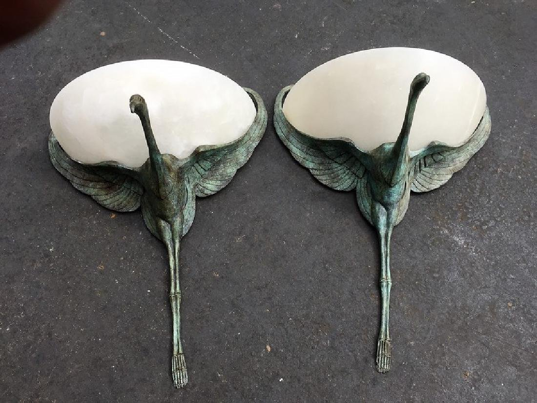 Albert Churet Style Wall Sconces (Pair)