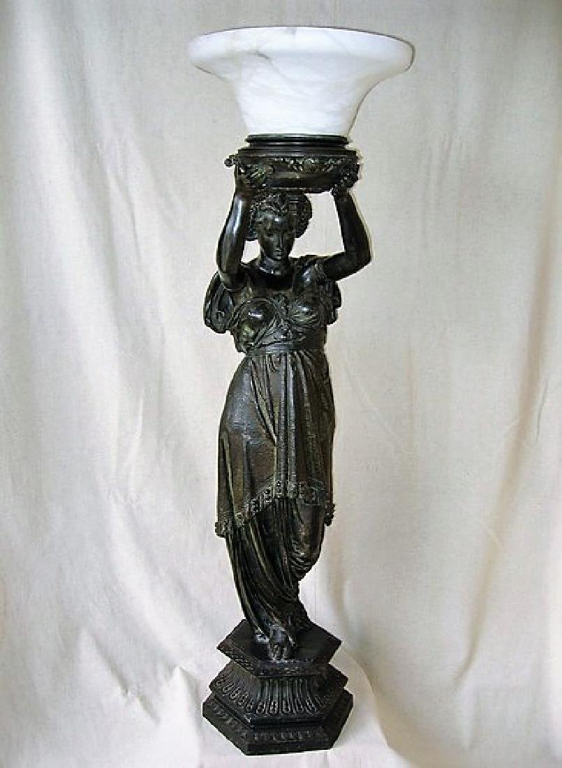 Antique Large Lady Newl Post Figurine