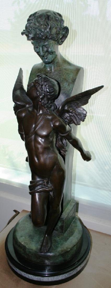 "Bronze Angel Sculpture Titled ""Seduction"""