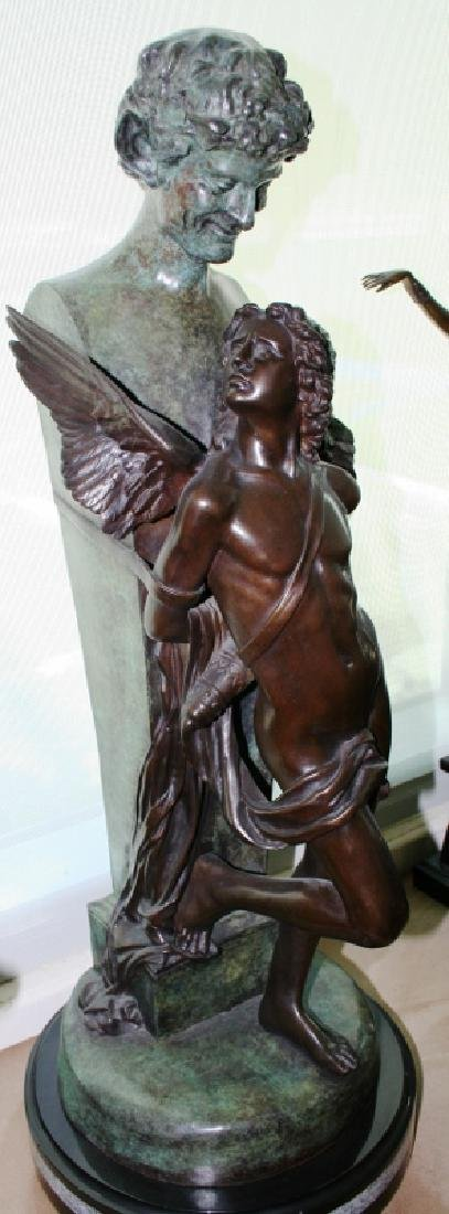 "Bronze Angel Sculpture Titled ""Seduction"" - 2"