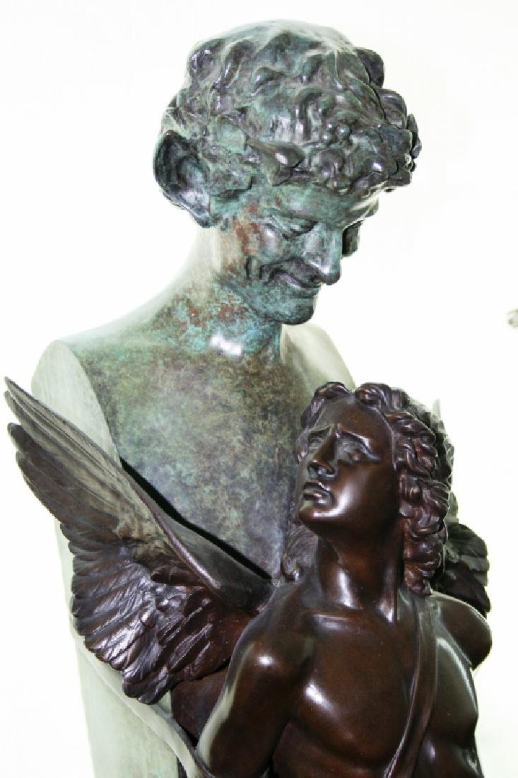 "Bronze Angel Sculpture Titled ""Seduction"" - 3"