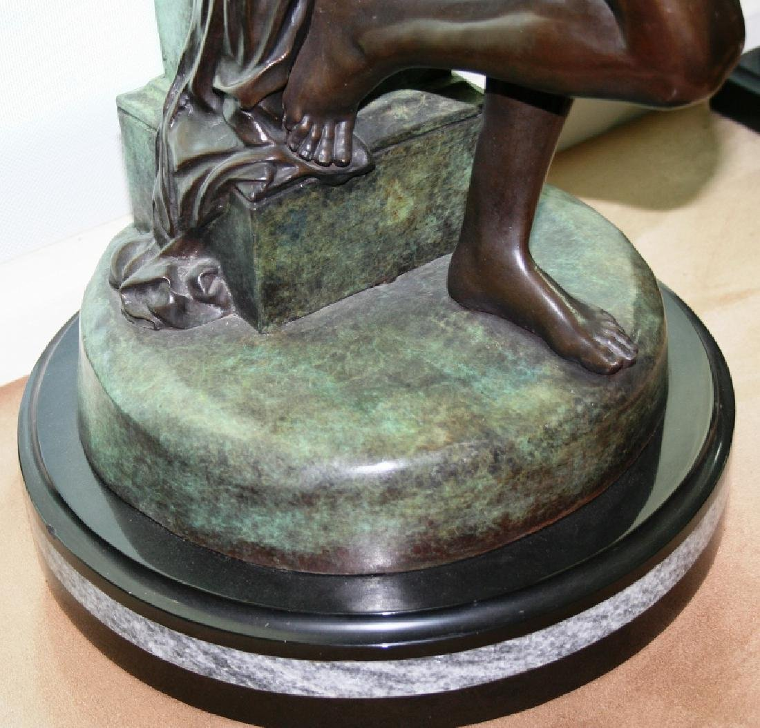 "Bronze Angel Sculpture Titled ""Seduction"" - 4"