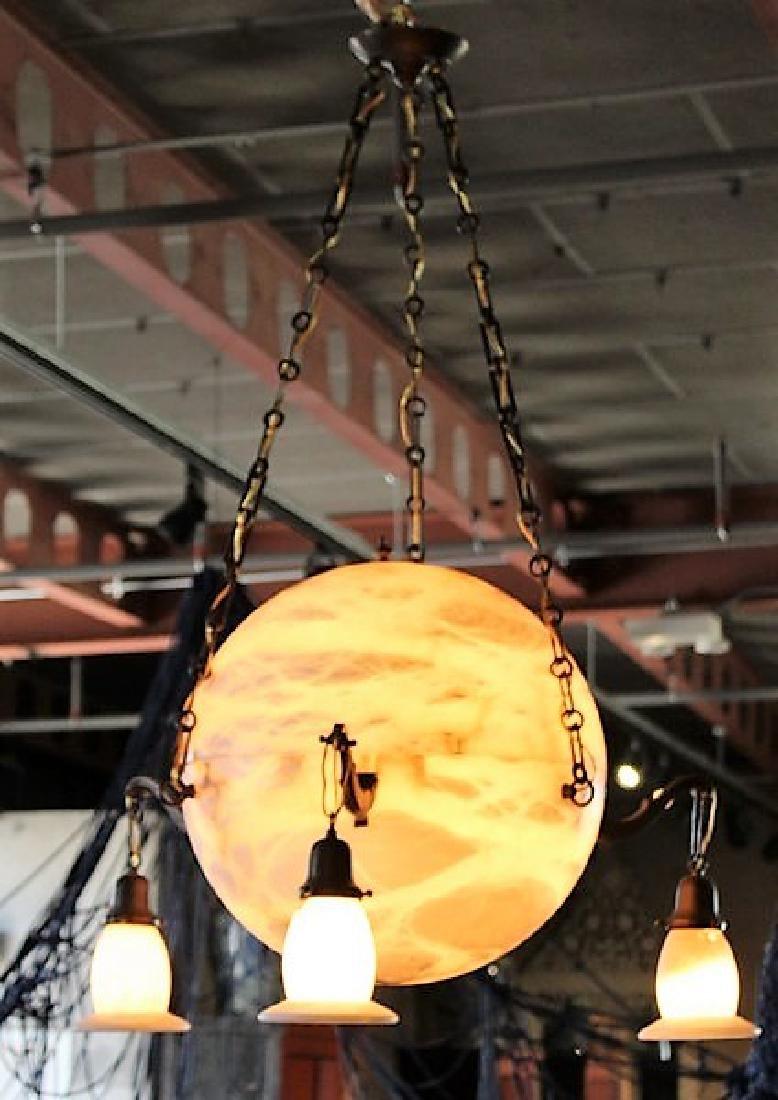 Modern Style Alabaster Sphere Chandelier