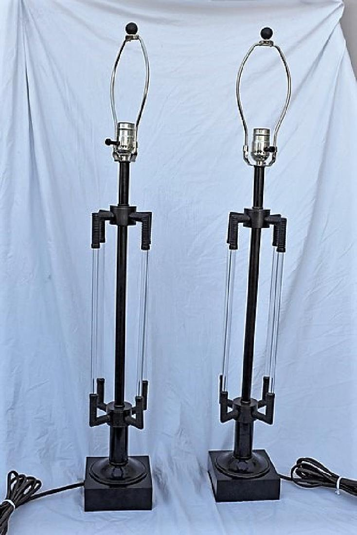 Glass Rod Lamps (Pair)