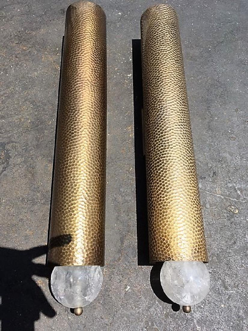 Modern Style Hammered Finish Sconces (Pair)